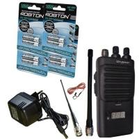 Комплект Штурман-180 #3 - 1050: AM/FM Си-Би (27 МГц) рация Штурман-180 с 14-см и 33-см антеннами, аккумуляторами с низким саморазрядом Robiton Ready to Use AAA 1050 мАч (8 шт.), сетевым зарядным устройством.